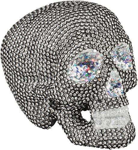 Decoratie Doodshoofdmet Diamanten (19x15cm)