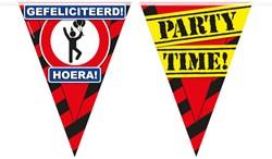 Vlaggenlijn Party Gefeliciteerd Verkeersbord