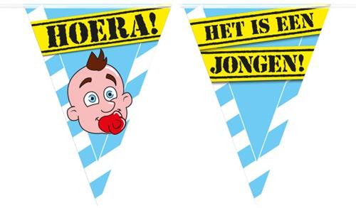 Vlaggenlijn Party Hoera Baby Boy