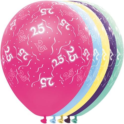 Ballonnen 25 jaar Metallic 5st