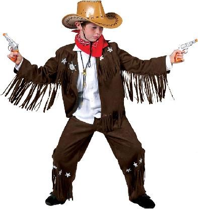 Kostuum Cowboy Bruin (met franjes)