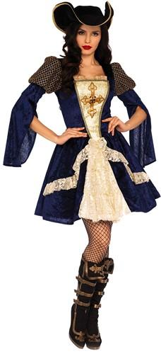 Dameskostuum Enchanting Musketeer Blue