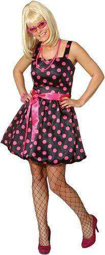 Ballonjurkje Zwart/Pink