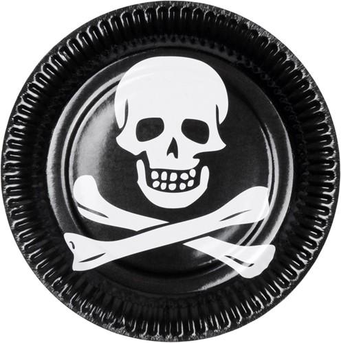 Bordjes Piraat Doodshoofd 6st.