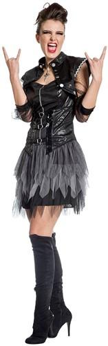 Punk Jurkje Zwart voor dames