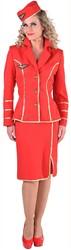 Stewardessen Pakje 1950 Rood voor dames