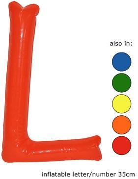 Opblaas Letter L 35cm Oranje