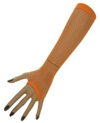 Nethandschoenen 23 cm z. Vingers Oranje
