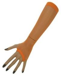 Nethandschoenen 23cm. zonder vingers Oranje