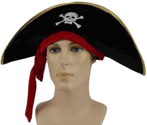 Hoed Piraat zwart