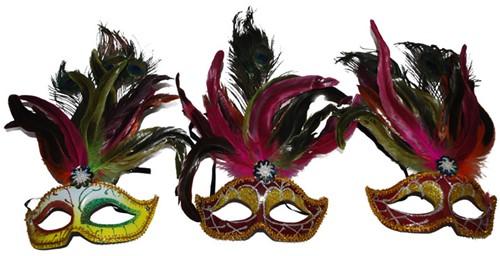 Venetiaans Masker + Pauwenveren