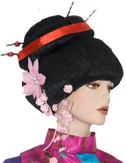 Pruik Geisha Luxe