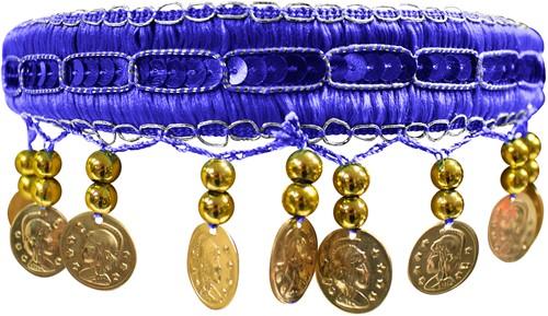 Haarband Zigeuner Luxe Blauw