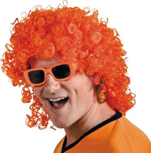 Pruik Matje Krul Oranje