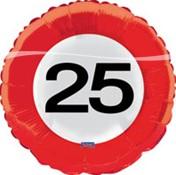Folieballon 25 jaar Verkeersbord