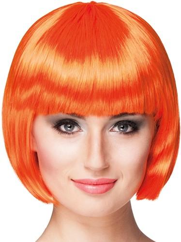 Pruik Bobline Cabaret Oranje