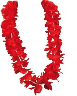 Hawaiikrans Rood Luxe