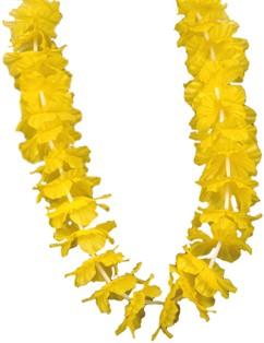 Hawaiikrans Geel Luxe