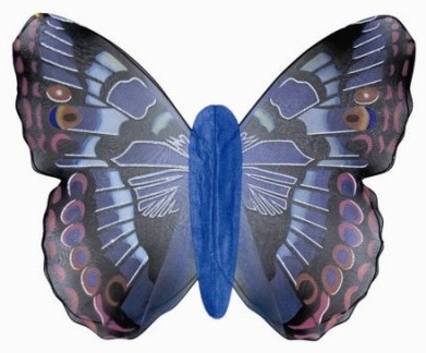 Vleugels Vlinder Jumbo Blauw
