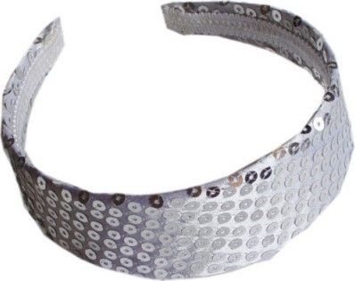Haarband Pailletten Zilver