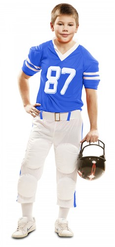Kinderkostuum American Football Blauw/Wit