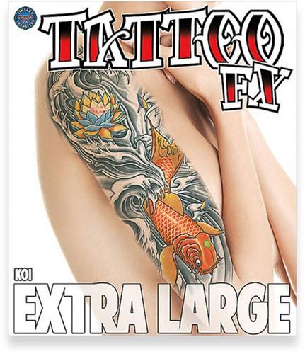 Body Tattoo Koi (extra groot)