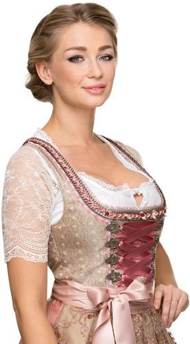 Dirndl Alison Luxe Roze (65cm) (close-up)