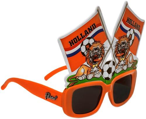 Bril Click-On Vlaggen Hollandse Leeuw Oranje