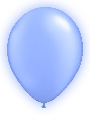 LED Ballonnen Lichtblauw (5 stuks)