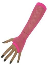 Nethandschoenen 23cm. zonder vingers Pink