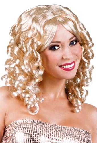 Pruik Curly Blond