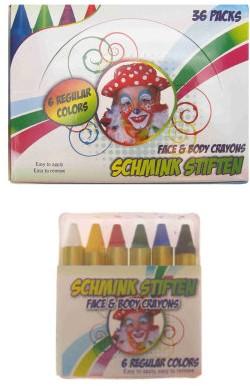 Schminkstiften 6 kleuren