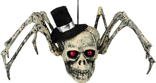 Halloween Decoratie Spinnenschedel (23x29cm)