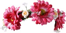 Dirndl Haarband Bloemen Margriet Pink