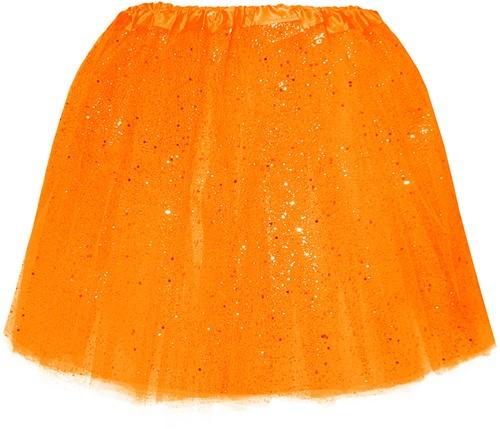 Tule Rokje Oranje met Glitter