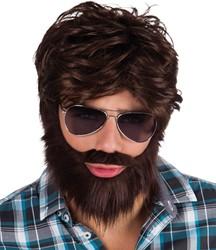 Herenpruik Bruin met baard