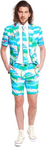 Herenkostuum Summer OppoSuits Flaminguy