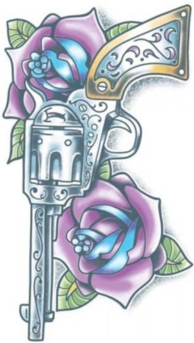 Tattoo Day of the Dead - Pistola