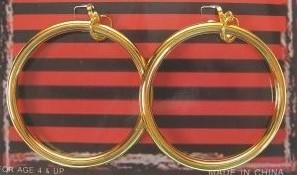Zwarte Piet Oorringen met clipsluiting