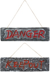 Deurbord DANGER 10x35cm