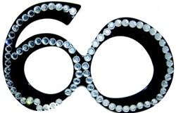 Bril 60 jaar Diamant Zwart