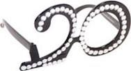Bril 20 jaar Diamant Zwart