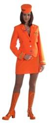 Stewardessenpakje Luxe Oranje