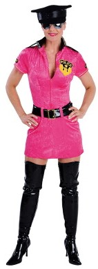 Dameskostuum Police Girl Pink