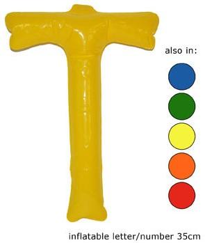 Opblaas Letter T 35cm Oranje
