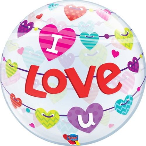 Bubble I Love You Hearts
