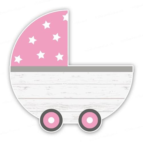 Tuinbord (verhuur) - Kinderwagen Meisje