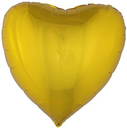 Folieballon Hartje XL Metallic Goud (80x75cm)