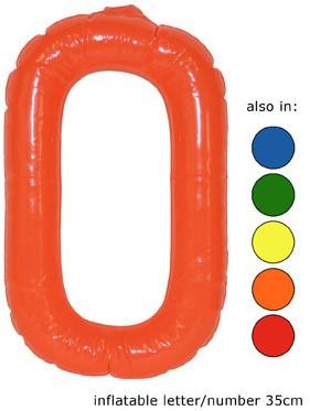 Opblaas Letter O 35cm Oranje
