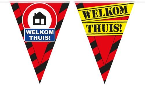 Vlaggenlijn Party Welkom Thuis Verkeerdbord